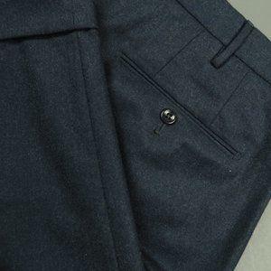 Incotex Flannel S120 Wool Classic Fit Pants Sz 40
